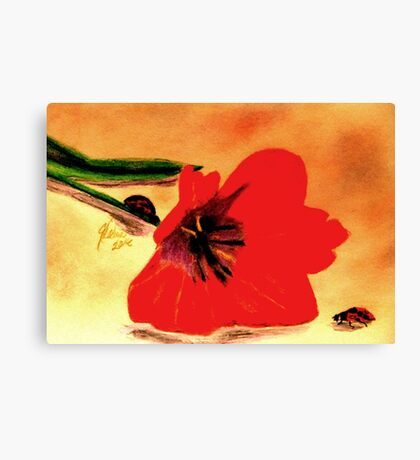 Meet Me in the Tulips Canvas Print
