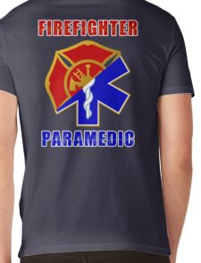Firefighter-Paramedic Mens V-Neck T-Shirt