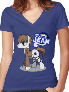 My Little Jean Women's Fitted V-Neck T-Shirt