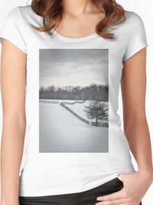 The Color of Winter BW Women's Fitted Scoop T-Shirt