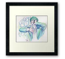 min yoongi, genius Framed Print