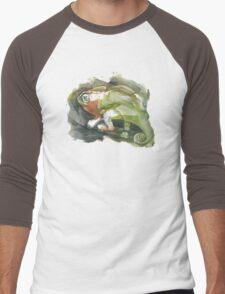 Chameleon, watercolor Men's Baseball ¾ T-Shirt