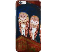 Clever Little Barn Owls iPhone Case/Skin