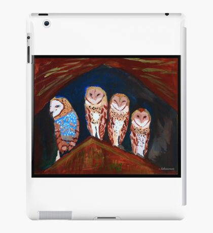 Clever Little Barn Owls iPad Case/Skin