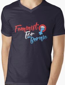 Feminist for Bernie Mens V-Neck T-Shirt