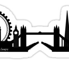 "Ed Sheeran ""The City"" Skyline Sticker"