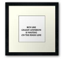 Run Like Gillian Anderson Framed Print