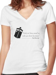 Doctor's wise words Women's Fitted V-Neck T-Shirt