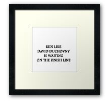 Run like David Duchovny Framed Print