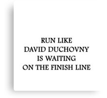 Run like David Duchovny Canvas Print