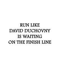 Run like David Duchovny Photographic Print