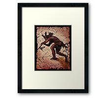 """Kokopelli the Flute Player"" by Lena Owens/OLena Art Framed Print"