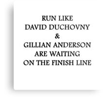 Run Like Gillian Anderson and David Duchovny Metal Print