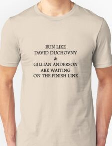 Run Like Gillian Anderson and David Duchovny T-Shirt