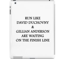 Run Like Gillian Anderson and David Duchovny iPad Case/Skin