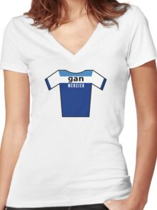Retro Jerseys Collection - Gan Women's Fitted V-Neck T-Shirt