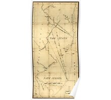 American Revolutionary War Era Maps 1750-1786 940 The State of New Jersey Poster
