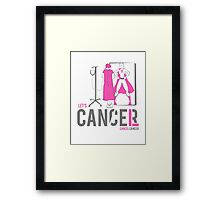 Let's Cancel Breast Cancer Framed Print