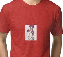 Purple alien watercolor Illustration Tri-blend T-Shirt
