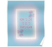 Paris again Poster