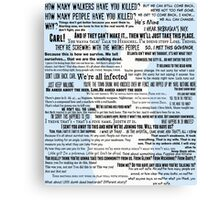 Rick Grimes Quotes The Walking Dead TWD Graphic Canvas Print