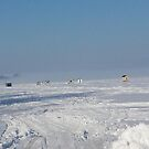 Ice fishing huts on the Ottawa River  - March 6/2016 by Shulie1