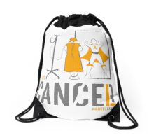 Let's Cancel Childhood Cancer Drawstring Bag