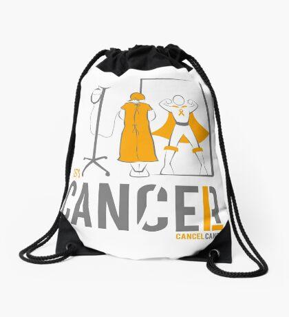 Let's Cancel Childhood Cancer Drawstring Bag