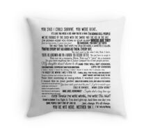 Carol Peletier Quotes The Walking Dead TWD Typography Distressed Vintage Burnout Graphic  Throw Pillow