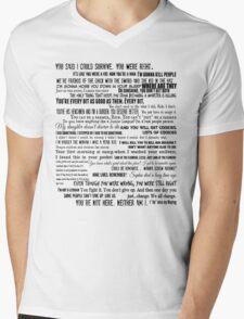 Carol Peletier Quotes The Walking Dead TWD Vintage Burnout Graphic  Mens V-Neck T-Shirt