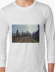 Hurricane Ridge Road, Olympic National Park, Washington Long Sleeve T-Shirt