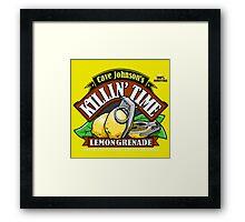 Cave Johnson Lemons Framed Print
