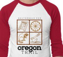 Oregon Trail Logo (fcb) Men's Baseball ¾ T-Shirt