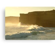 Joe Mortelliti Gallery - Sound and light show at Sherbrooke Beach, near Port Campbell and the Twelve Apostles, Great Ocean Road, Victoria, Australia. Canvas Print