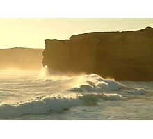 Joe Mortelliti Gallery - Sound and light show at Sherbrooke Beach, near Port Campbell and the Twelve Apostles, Great Ocean Road, Victoria, Australia. Photographic Print