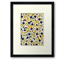 Dots Dots Leaves Leaves Framed Print