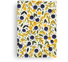 Dots Dots Leaves Leaves Canvas Print