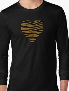 0232 Bistre Brown, Drab, Mode Beige, Sand Dune or Sandy Taupe Tiger Long Sleeve T-Shirt