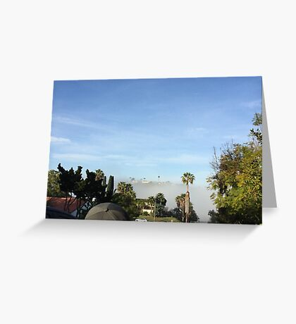 Fog Layer Rolls Over Greeting Card