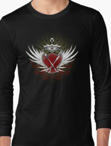Knife and Fork Coat of Arms Long Sleeve T-Shirt