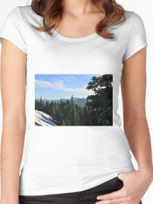Hurricane Ridge, Olympic National Park, Washington Women's Fitted Scoop T-Shirt