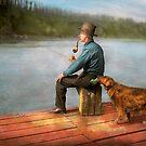 Fishing - Booze hound 1922 by Mike  Savad