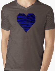 0233 Duke Blue Tiger Mens V-Neck T-Shirt