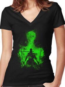 Zoro Art Women's Fitted V-Neck T-Shirt