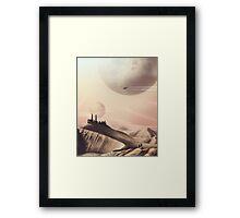 Sci Fi Desert Framed Print