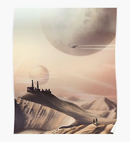 Sci Fi Desert Poster