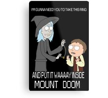 Rick and Morty - Lord of the rings Metal Print