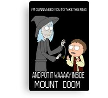 Rick and Morty - Lord of the rings Canvas Print