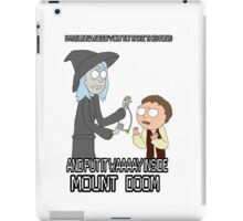 Rick and Morty - Lord of the rings iPad Case/Skin