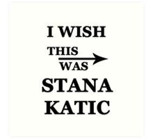 I wish this was Stana Katic Art Print